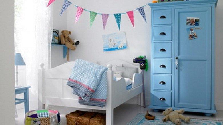 Banderines en una habitación infantil