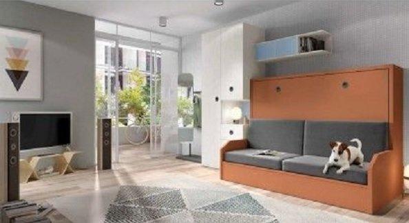 Cama abatible con sofa (Citymuebles.es)