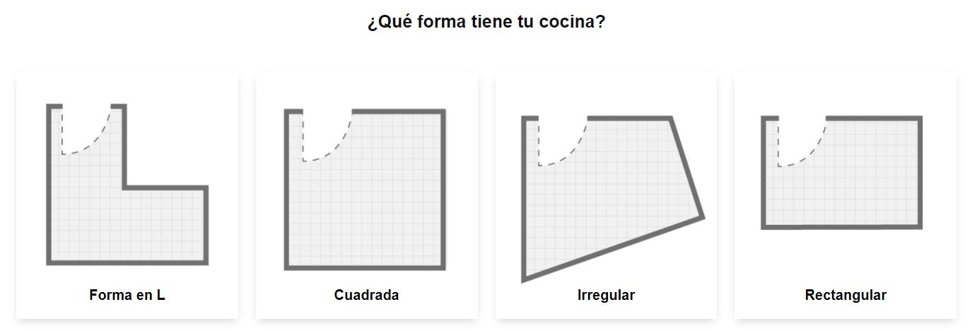 Forma de la cocina Planificador cocinas Ikea