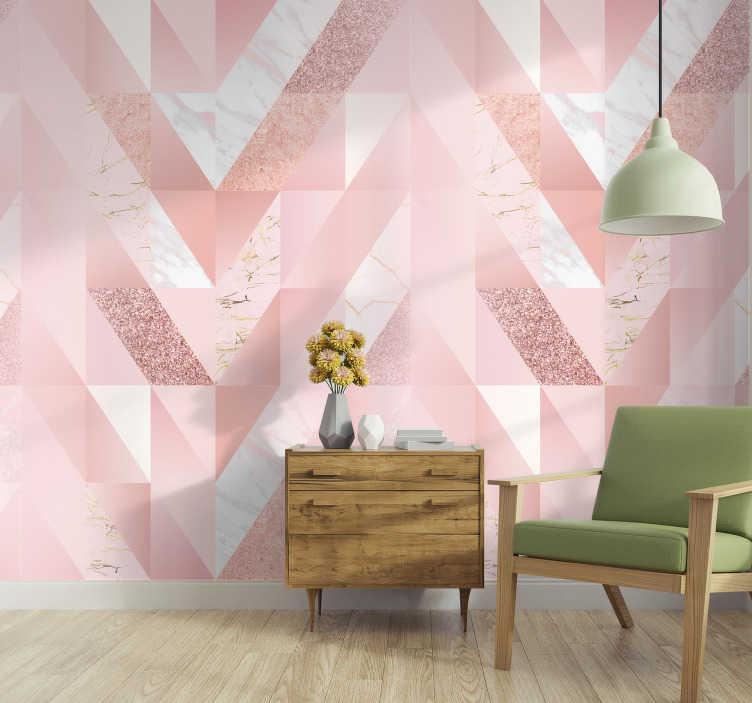 Papel pintado tonos rosados