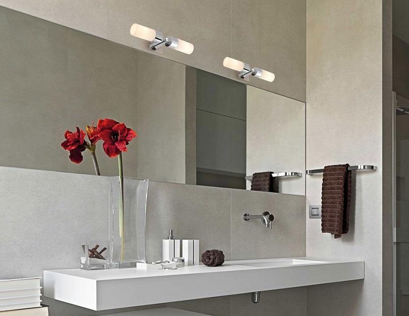 Aplique de baño y espejo