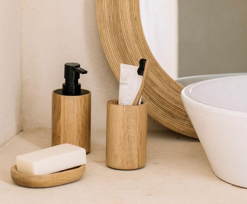 Jabonera o dispensador de jabón para el baño y la cocina